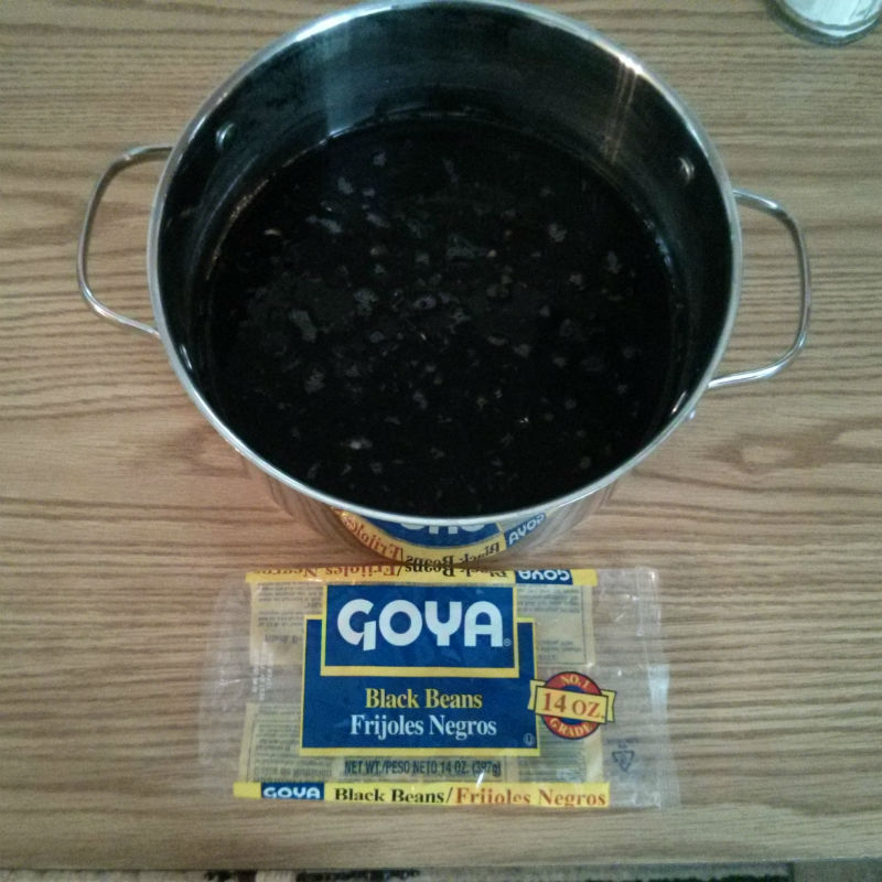Frijoles Negros (Cuban Black Beans) soaking overnight