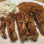 Crockpot BBQ Ribs with Creamy Coleslaw
