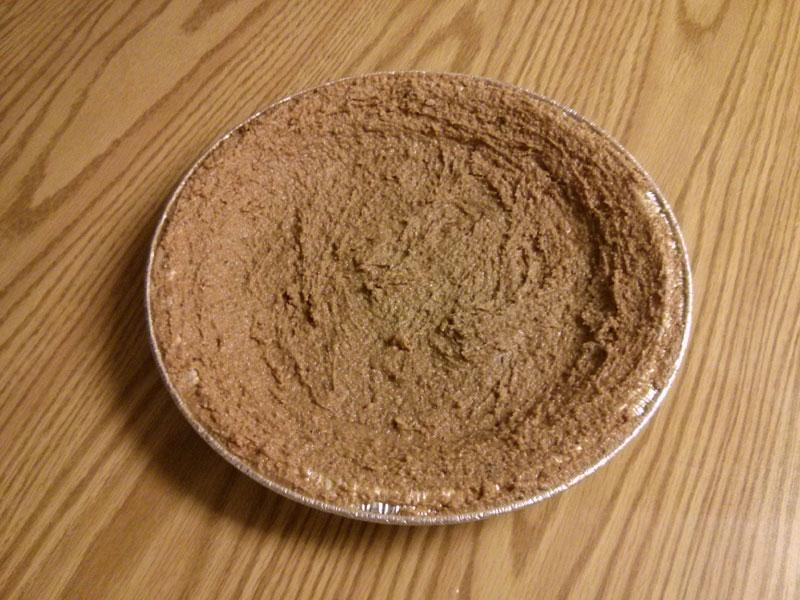 Chocolate pie crust before baking