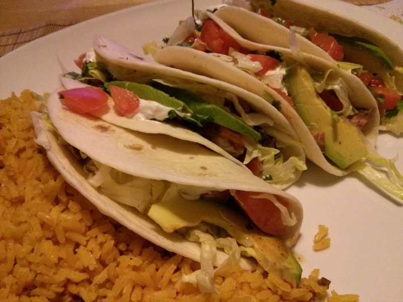Ribeye Steak Tacos Served