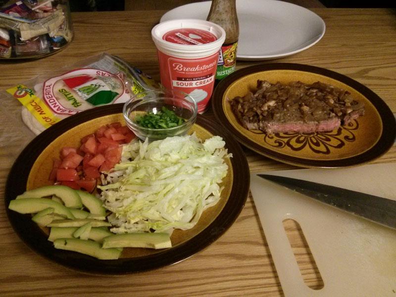 Steak Tacos Prepped