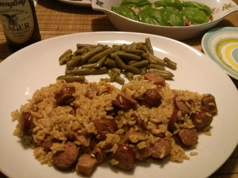 Sausage & Ham Jambalaya