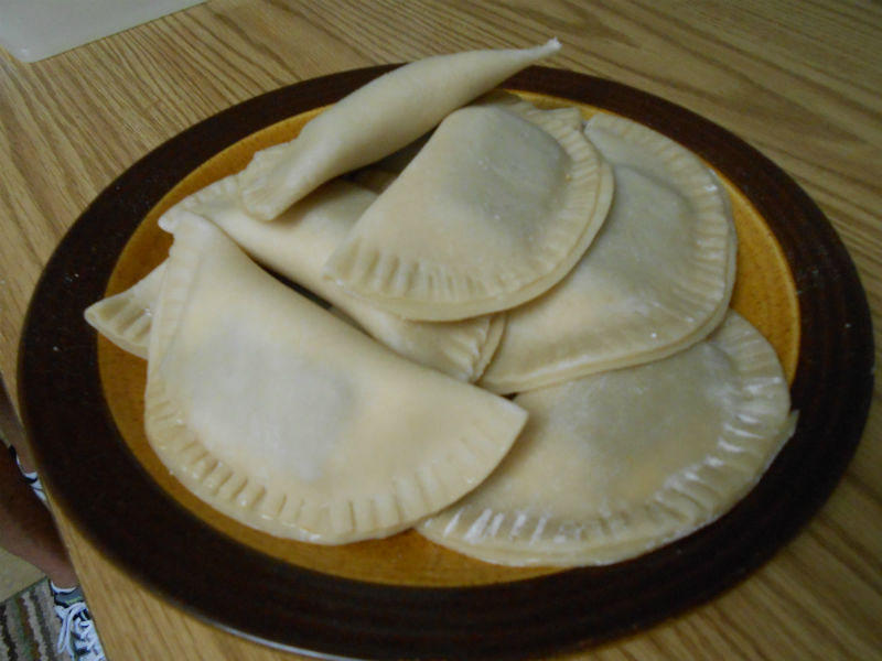 Guava and Cream Cheese Empanadas ready to be fried