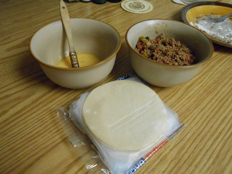 Empanada ingredients