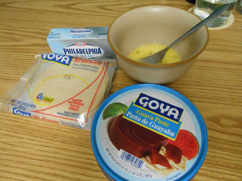 Ingredients for the Guava and Cream Cheese Empanadas