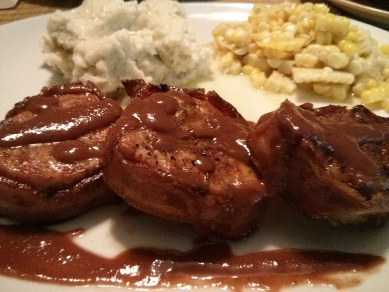 Bacon-wrapped Boneless Pork Tenderloin Medallions