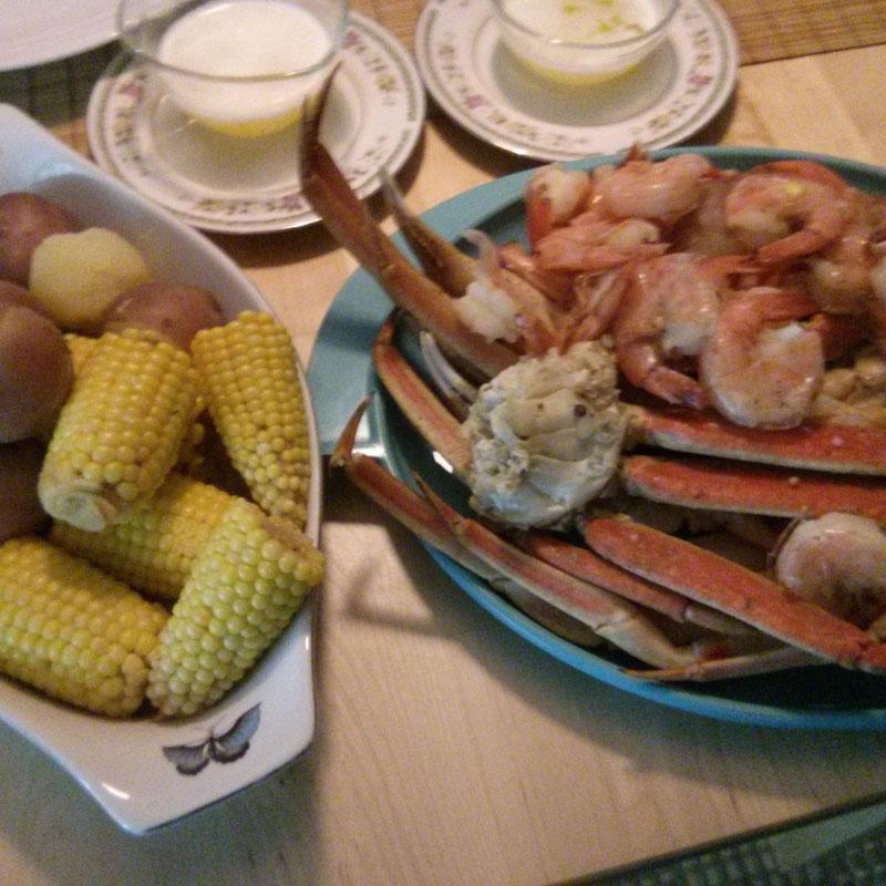 Snow Crab and Shrimp Boil
