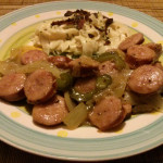 Kilbasa Sausage with Peppers and Onions