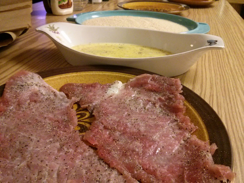 Palomilla Steak Ready to be breaded