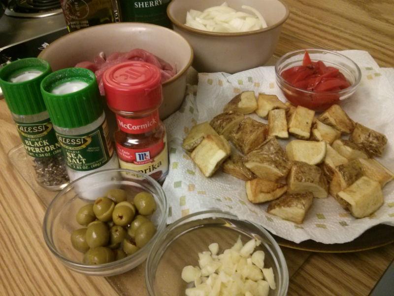 Puerco Salamanca Pork Tenderloin Potatoes Tapa ingredients