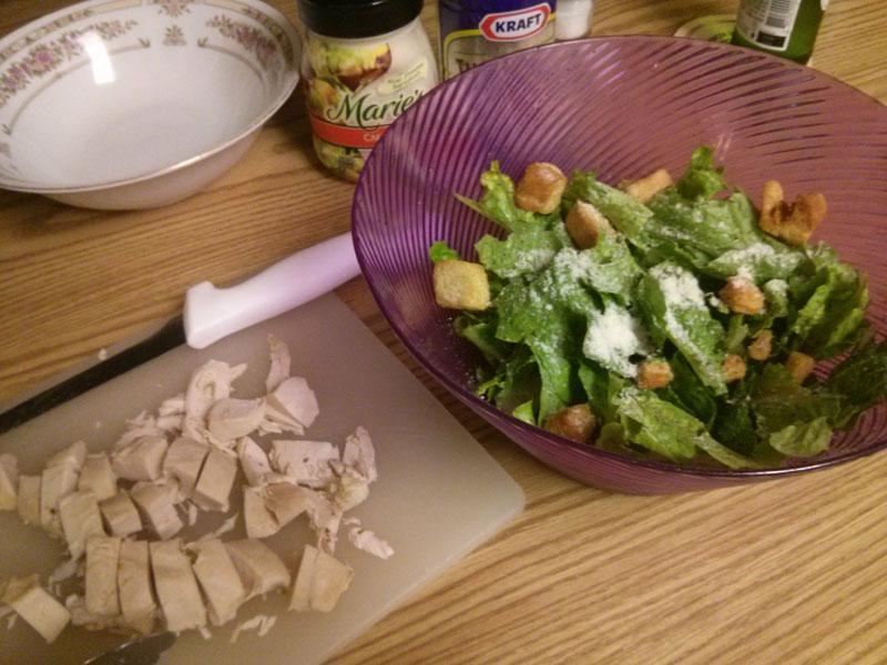 Rotisserie Chicken Caesar Salad ingredients