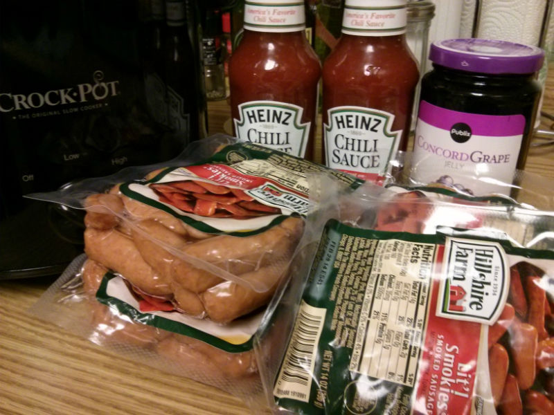 Little Smokies in Chili Grape Sauce Ingredients