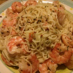 Garlic Shrimp with Angel Hair