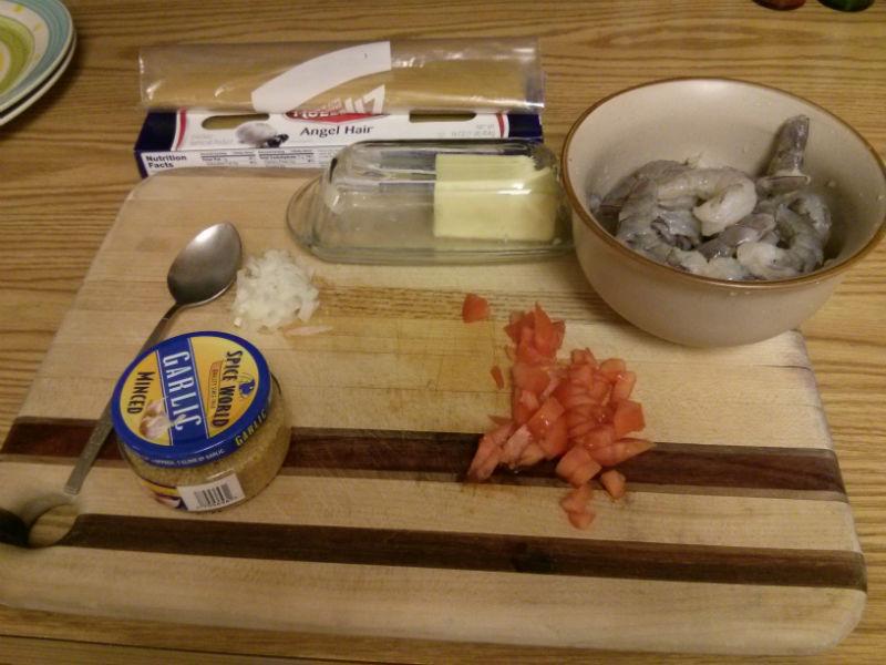 Garlic Shrimp with Angel Hair ingredients
