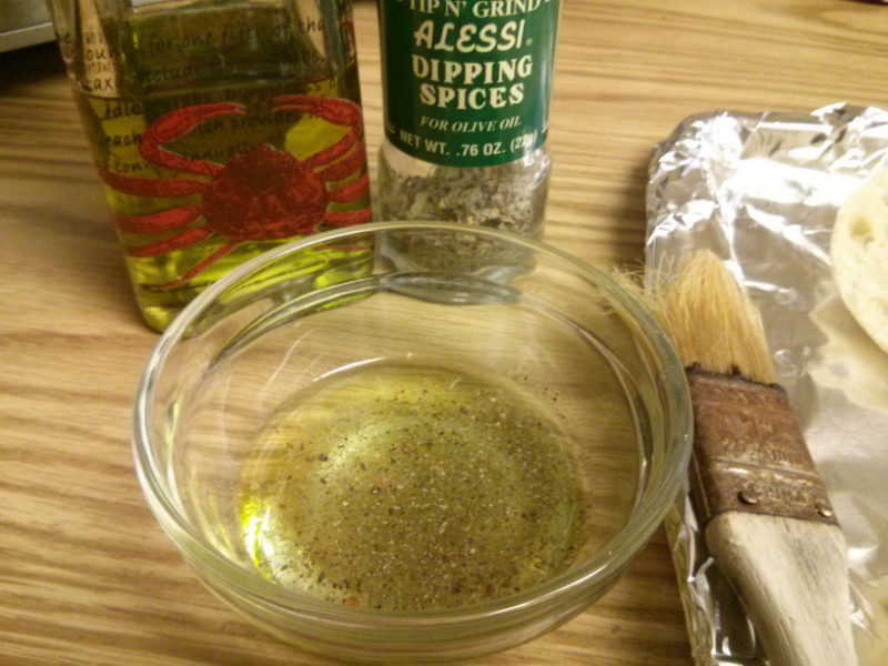 Olive oil and herb mixture