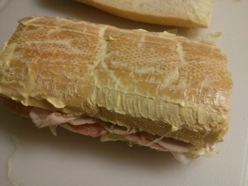 West Tampa Cuban Sandwich buttered and ready to be pressed