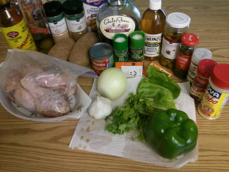 Fricasé de Pollo (Cuban Chicken Fricassee) ingredients