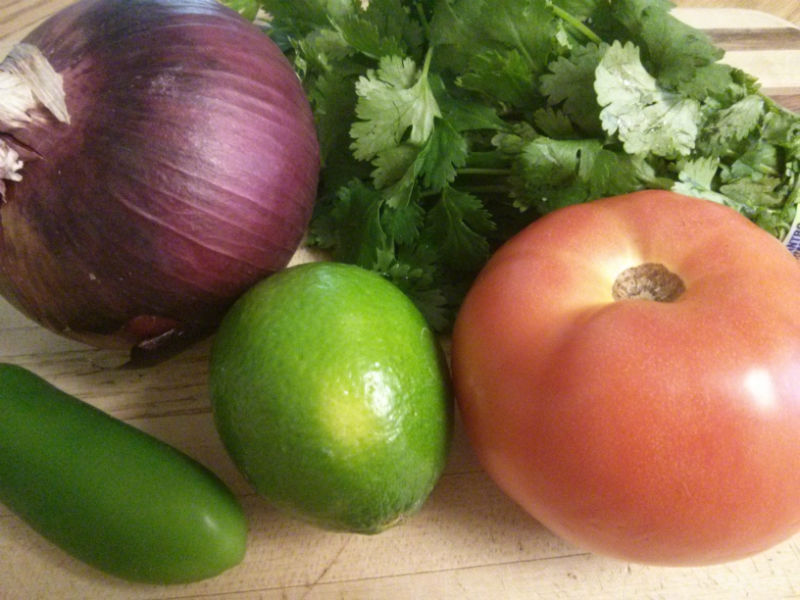 Pico de Gallo Salsa ingredients