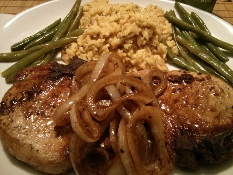 Lemon Garlic and Onion Pork Chops