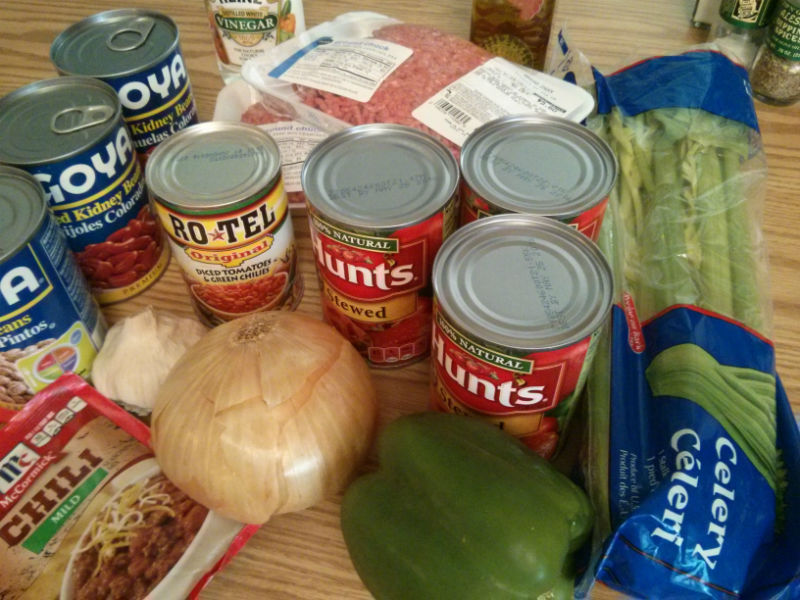 Rich and Meaty Chili ingredients