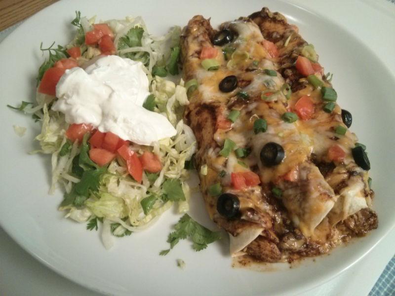 Rotisserie Mojo Chicken Enchiladas