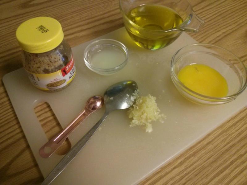 Creole Mustard Aioli ingredients