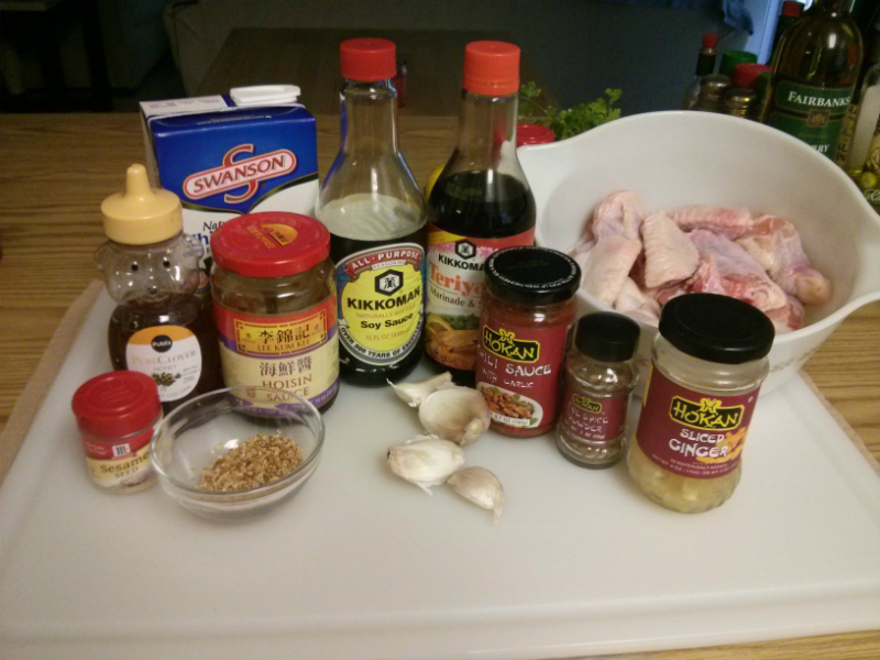 Hoisin Chicken Wings ingredients