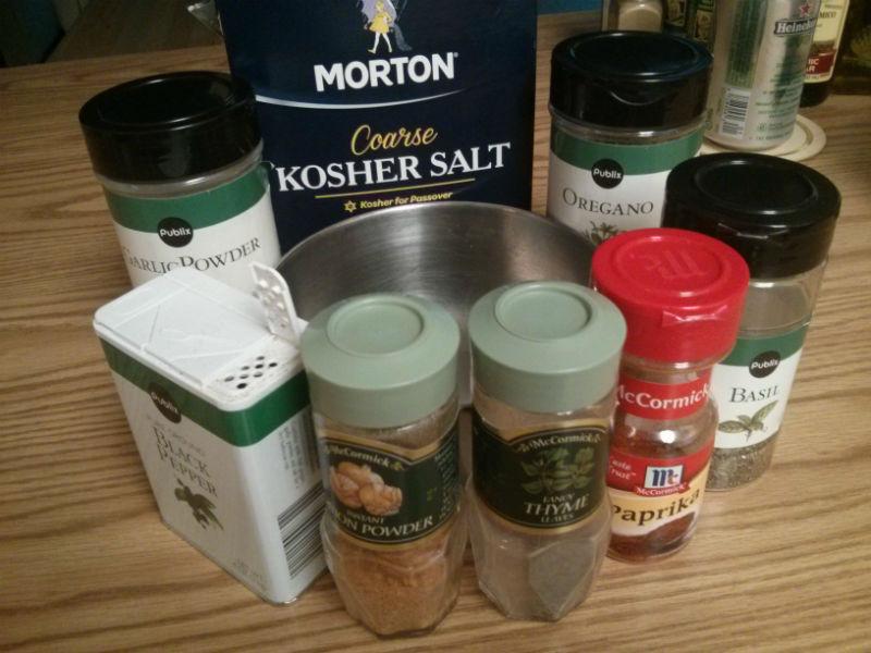 Blackened Seasoning Blend ingredients