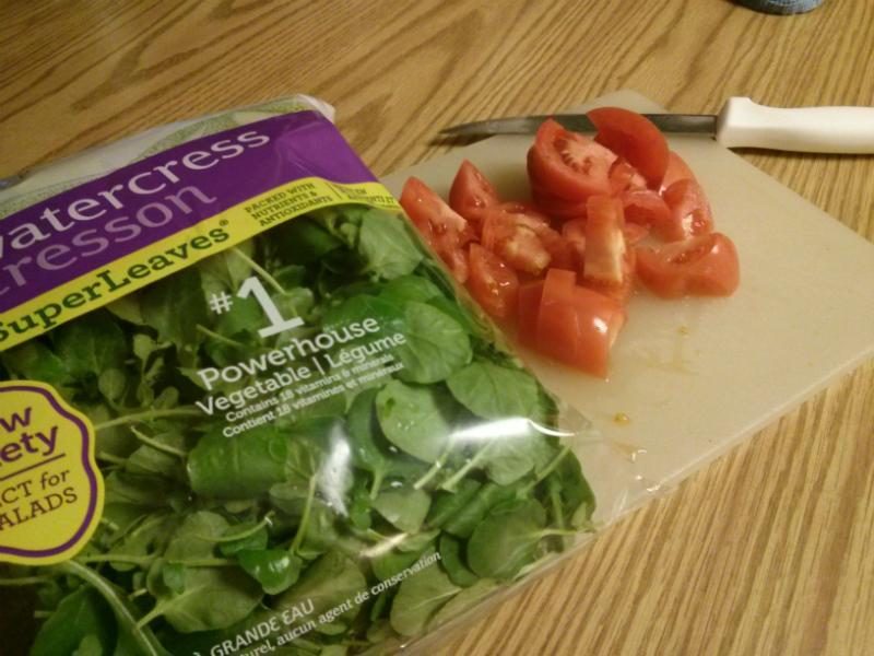 Watercress & Tomato Salad ingredients